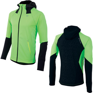 Men's, Fly Softshell Run Hoody, Screaming Green/Screaming Yell, Size md