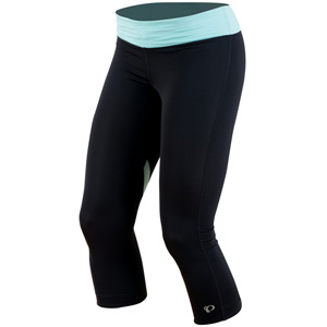 Women's, Fly 3/4 tight, Black/Aruba Blue, size s