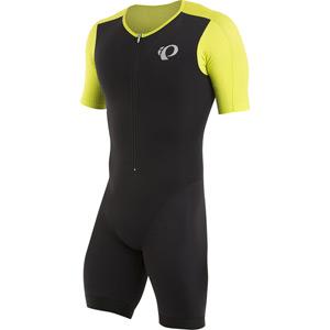 Men's, Elite Pursuit Tri Speed Suit, Black/Lime Punch, Size Medium