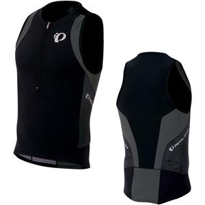Men's, Elite InRCool Tri Singlet, Shadow Grey/Black, Size X-large