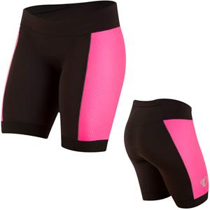 Women's, Elite Pursuit Tri Short, Black/Screaming Pink, Size md
