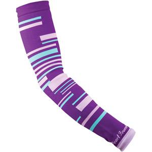 Unisex, Select Thermal Lite Arm Warmer, Purple Stripe, Size l