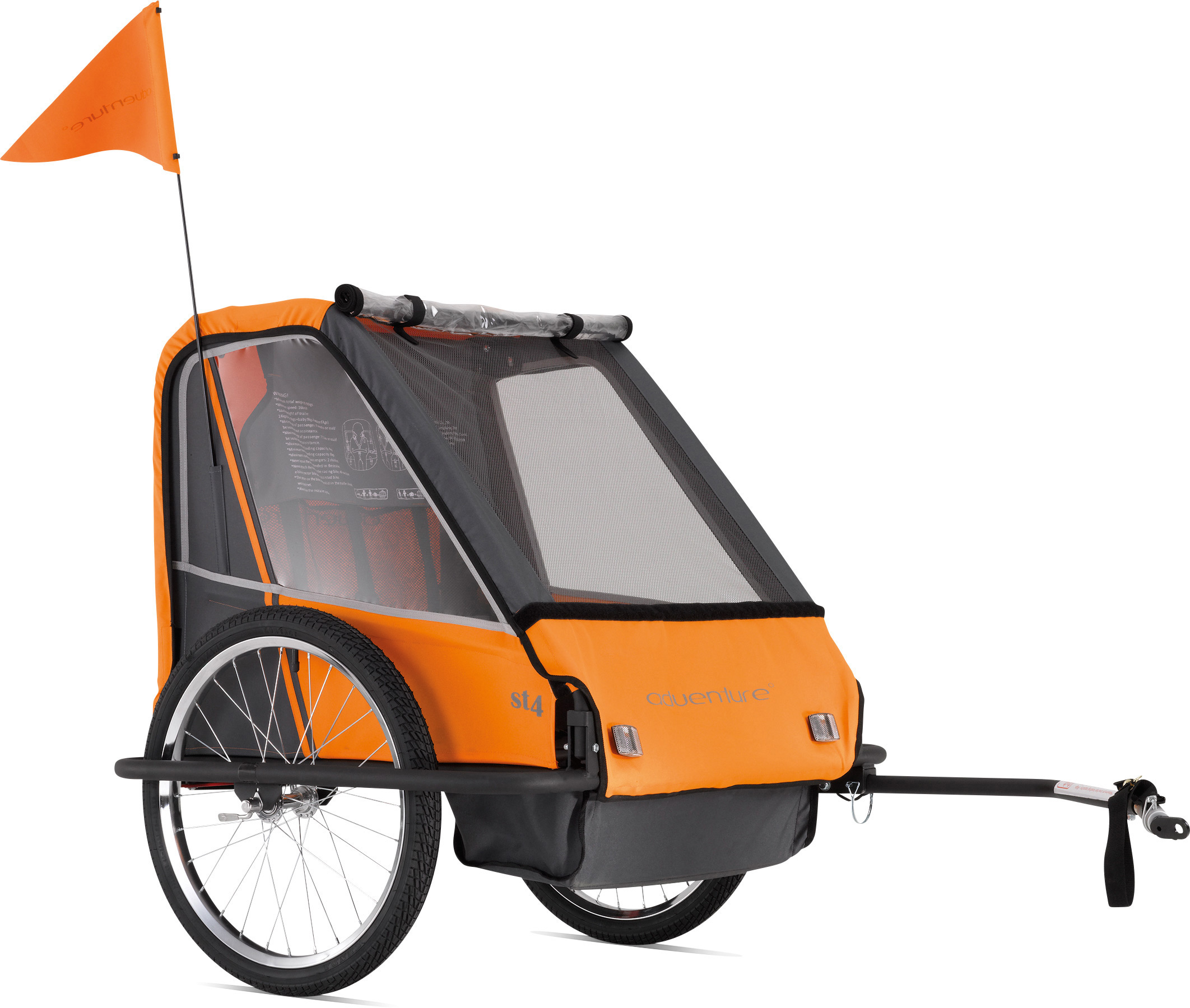 ST4 - steel 2-seater bicycle trailer