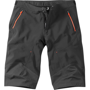 Winter Storm men's softshell shorts, black / chilli red medium