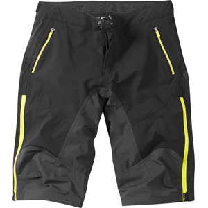 Winter Storm men's DWR shorts, black / limeaid medium