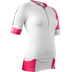 Compressport Pro Racing Triathlon TR3 Women's Aero Top - White - Size XS white