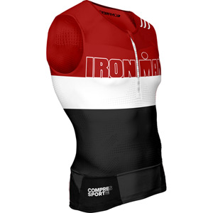Compressport TR3 Tank Top - Ironman Stripes Red XL red