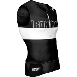 Compressport TR3 Tank Top - Ironman Stripes Black S black