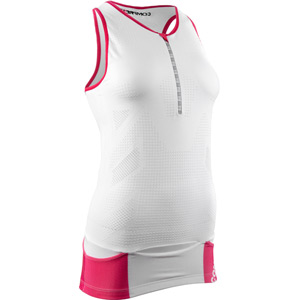 Compressport Pro Racing Triathlon TR3 Women's Tank Top - White - Size XS white