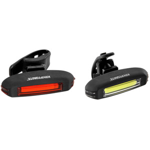 Kryptonite Avenue F35 + R20 COB LED SET- Black USB