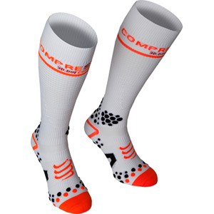 Full Socks V2 Compression, White, Size 5L