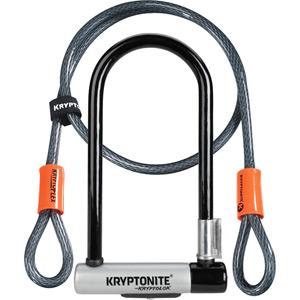 Kryptonite KryptoLok Standard U-lock with 4 foot Kryptoflex cable blk/silver