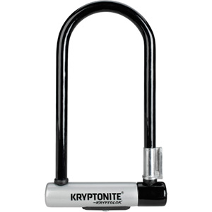 Kryptonite KryptoLok Standard U-lock with with FlexFrame bracket blk/silver