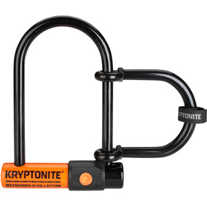 Kryptonite Messenger Mini + with U-lock extender blk/oran