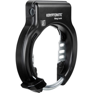 Kryptonite Ring Lock with plug in capability - non retractable (Sold Secure silver) black