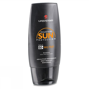 Lifesystems Mountain SPF 50+ sun cream- 100ml blk/oran