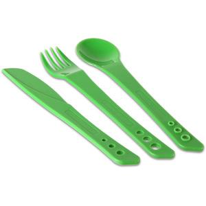 Lifeventure Ellipse Knife, Fork & Spoon Set - Green green