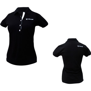 Women Polo Shirt, Black, Size Large