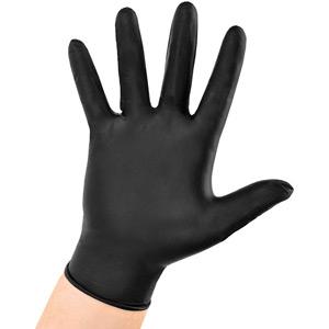 Gloves Nitrile / Vynatrile Disposable Black (100)