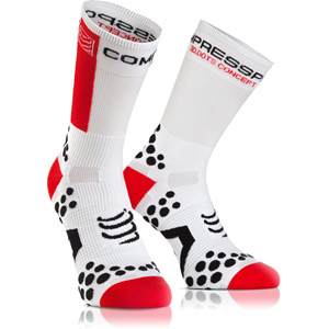 Racing socks v2.1 BIKE HI WHITE/red T4