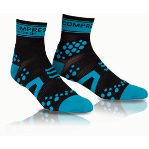 Pro Racing Socks V2 Run High, Black/Blue, Size 1
