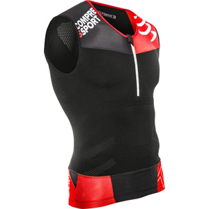 Compressport Pro Racing Triathlon TR3 Tank Top, Black, Size S black