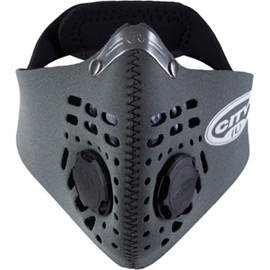 City mask grey large