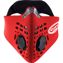 City mask red medium