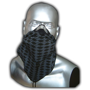 Bandit scarf grey diamond