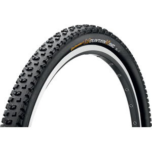 "Continental Mountain King II RaceSport 26 x 2.4"" Black Chili Folding Tyre black"