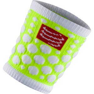 Wrist Band 3D.Dots, Yellow, One Size