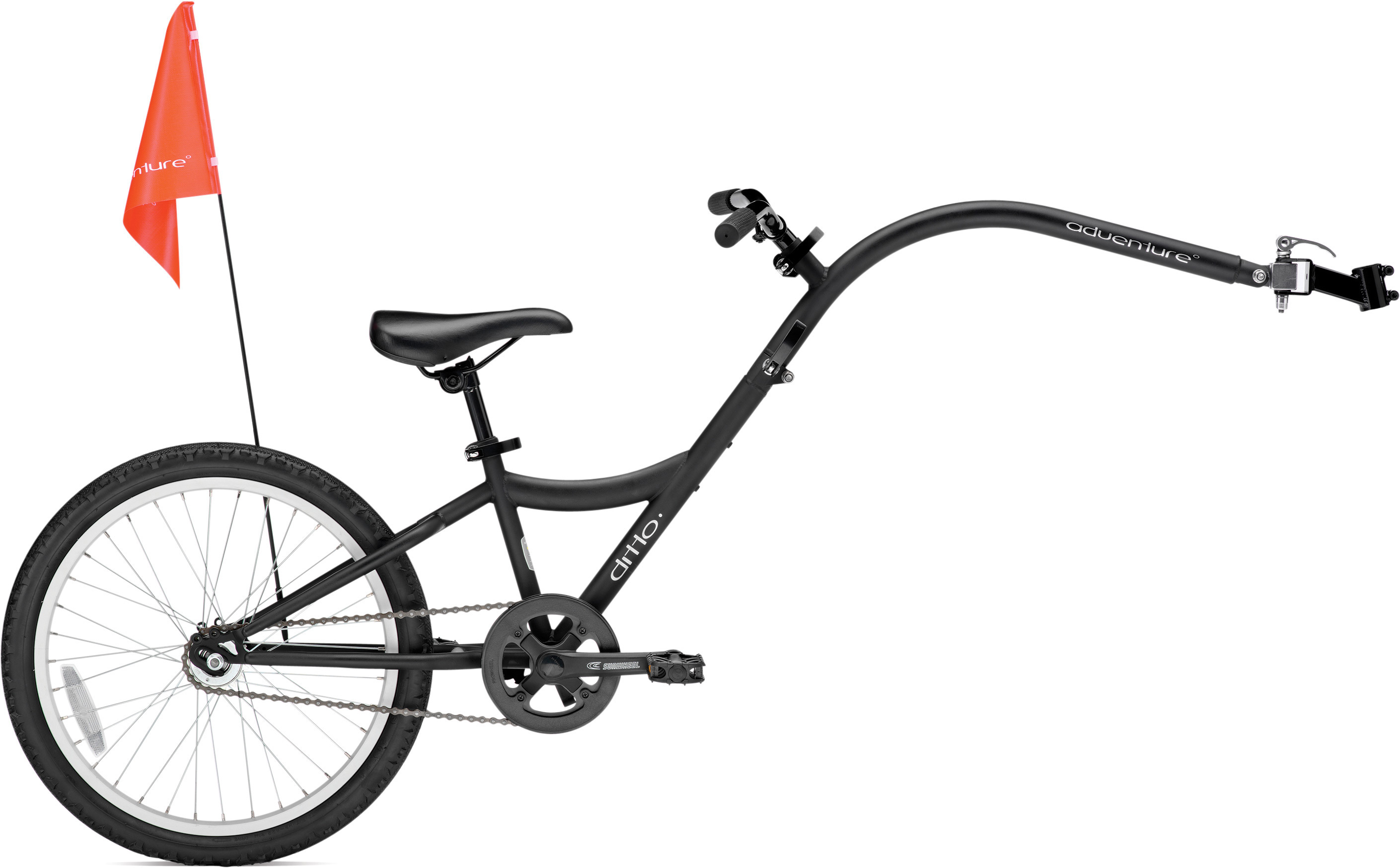 Ditto One trailer bike, uni-size - matt black