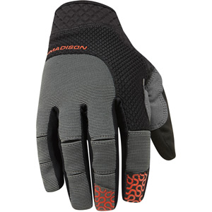 Flux men's gloves, black / chilli red large
