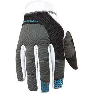 Flux men's gloves, black / hawaiian blue large