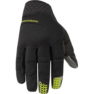 Flux men's gloves, black / limeaid medium