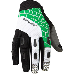 Zenith men's gloves, black / fern green medium