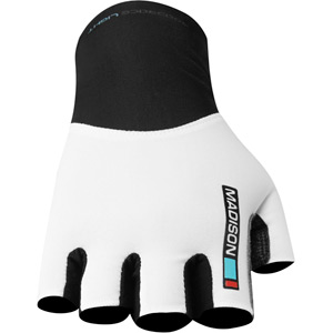 Road Race men's aero mitts, white large
