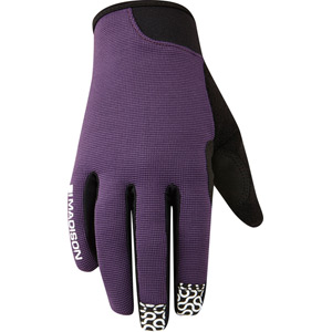 Leia women's gloves, loganberry medium