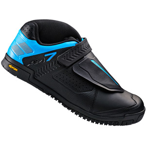 AM7 flat sole shoes, black / blue, size 39