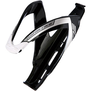 Custom Race bottle cage, black with white detailing