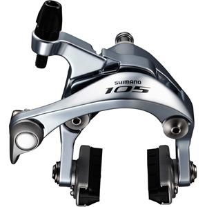BR-5800 105 brake callipers, 49 mm drop, silver, rear