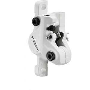 BR-M395 calliper, without rotor or adapters, post mount, front or rear, white