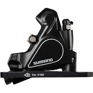 BR-RS405 flat mount disc calliper, without rotor, for 140/160 mm, front