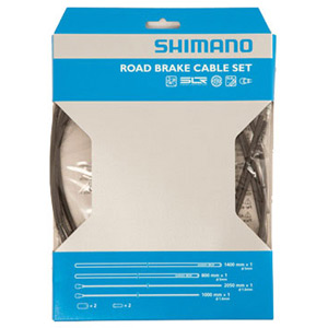 Road brake cable set with SIL-TEC coated inner wire, black