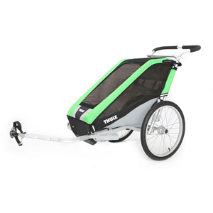 Cheetah 1 child carrier U.K. certified - green / black / silver Inc.Cycle Kit