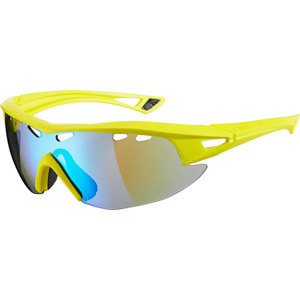 Recon glasses - matt yellow frame / Carl Zeiss Vision blue mirror lens