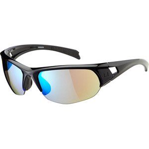 Mission glasses - gloss black frame / Carl Zeiss Vision blue mirror lens