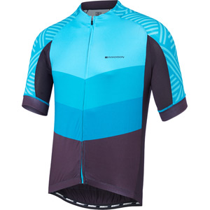 Sportive men's short sleeve jersey, chevron