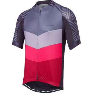 Sportive men's short sleeve jersey, chevron