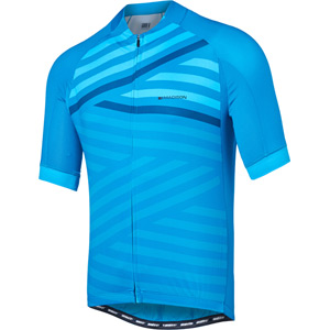 Sportive men's short sleeve jersey, geo stripes